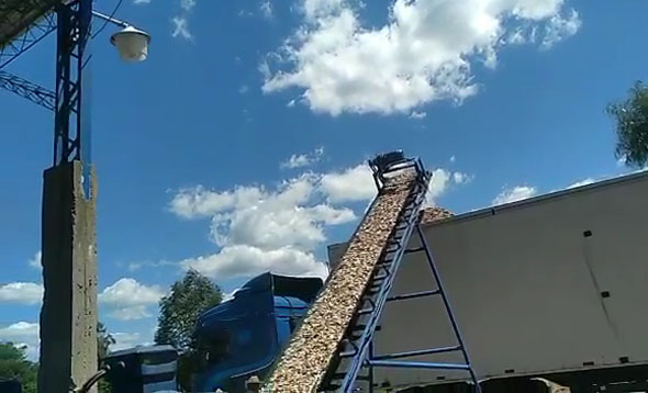 Wood Chipper/Crusher LDBX218 working video in our customer's factory